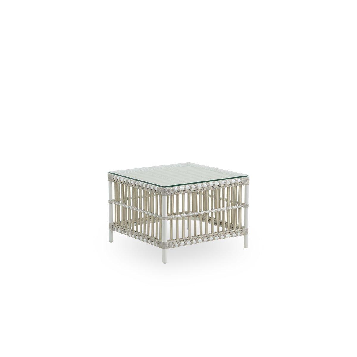 Sika Design Garten-Beistelltisch Caroline 60x60 cm Weiß
