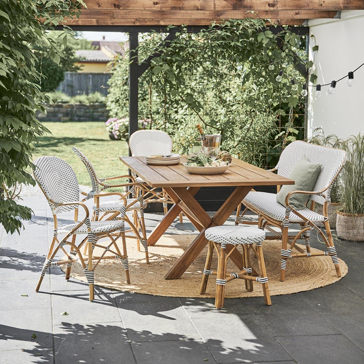 Sika Design Gartenstuhl mit Armlehne Isabell Weiß