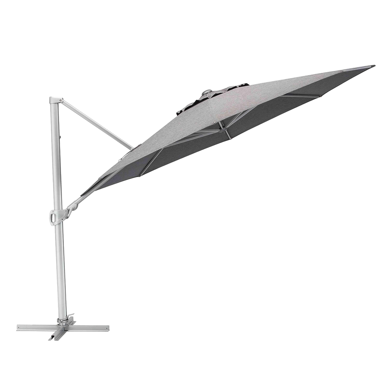 Kettler Sonnenschirm Easy Turn Ampelschirm Ø 330 cm Silber/Charcoal