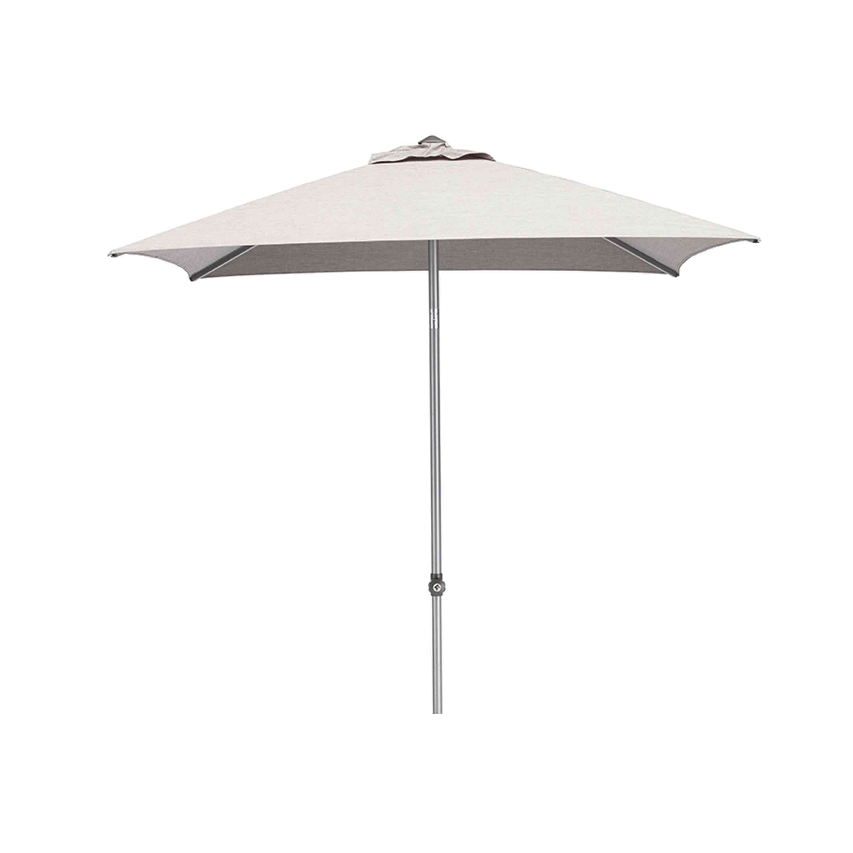 Kettler Sonnenschirm Easy Push 200x200 cm Silber/Hellgrau Meliert