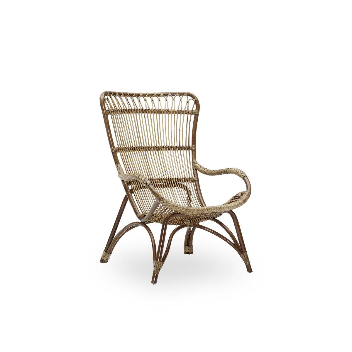Sika Design Sessel Monet ohne Hocker Antik Braun