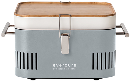 Everdure Cube HBCUBESDE Holzkohlegrill, Tragbar, Farbe stone