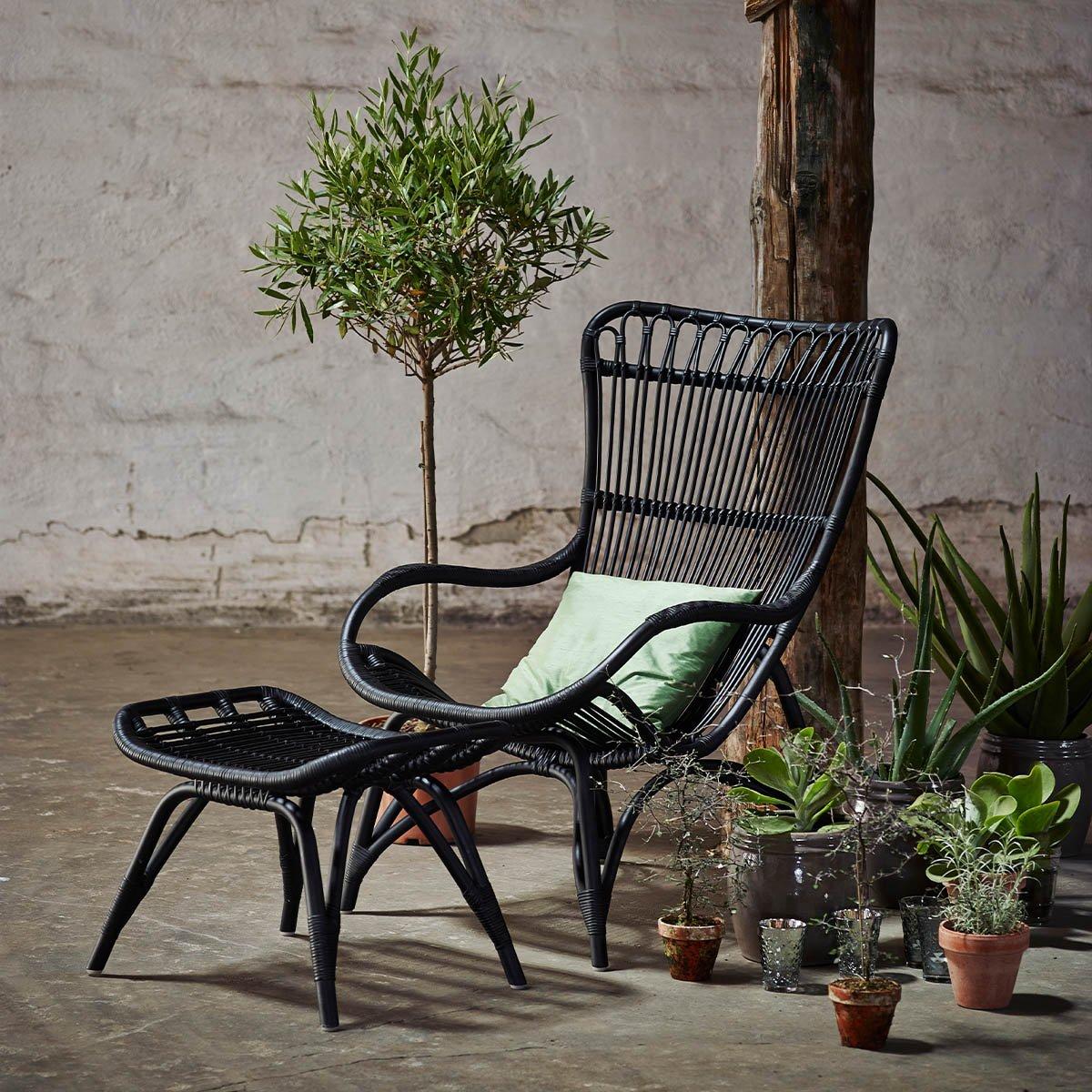 Sika Design Sessel Monet ohne Hocker Schwarz