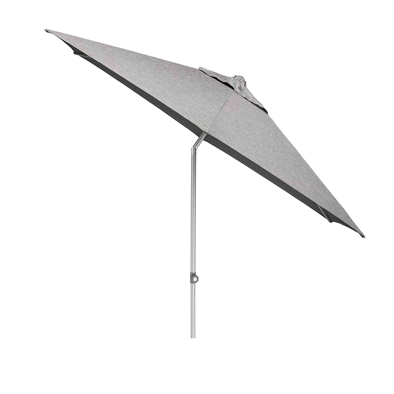 Kettler Sonnenschirm Easy Push Ø 300 cm Silber/Charcoal