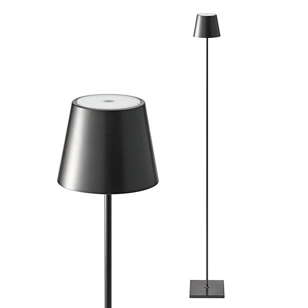dimmbare LED-Akku-Tischleuchte für Garten und Terrasse, 9 Stunden Laufzeit ohne Kabel Nuindie schwarz 120cm hoch