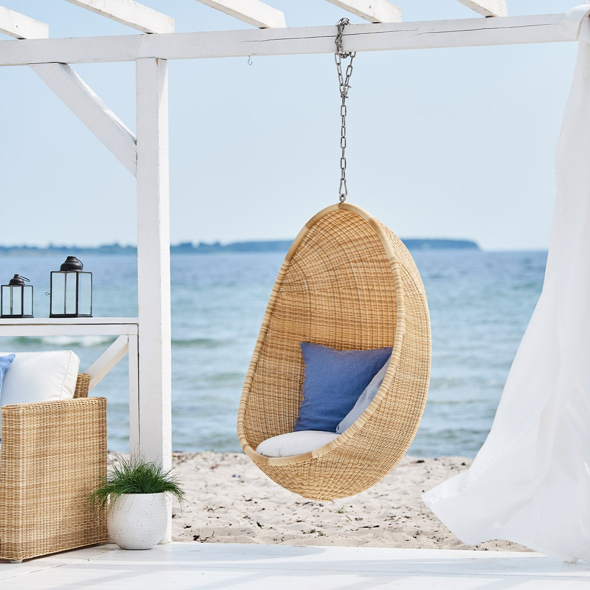 Sika Design Lounge-Sessel Hanging Egg Natur