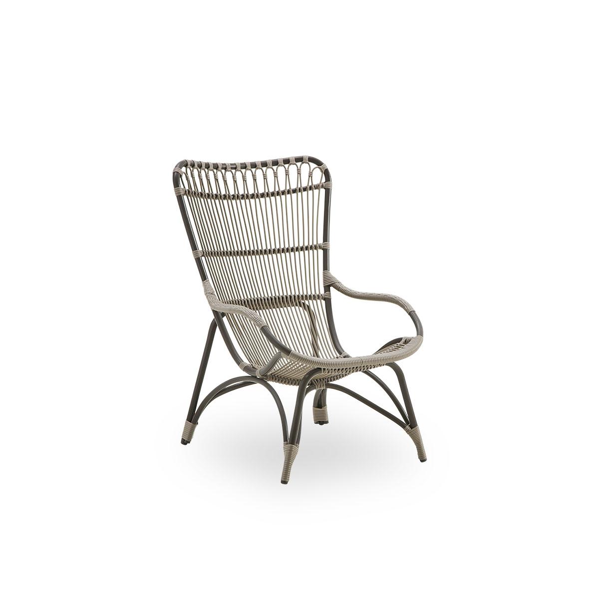 Sika Design Gartenstuhl Monet ohne Hocker Moccachino