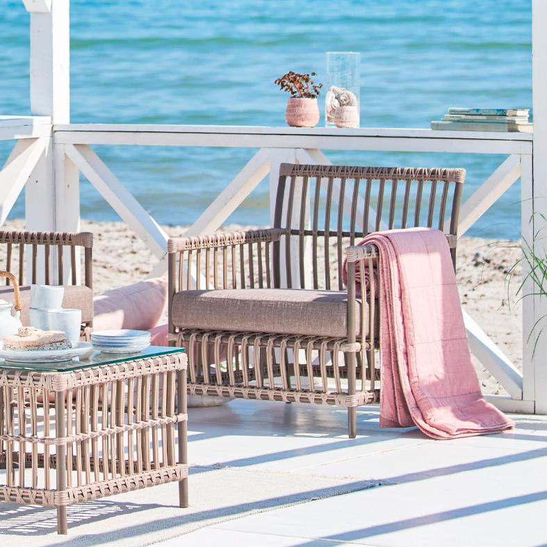 Sika Design Lounge-Sessel Caroline Moccachino