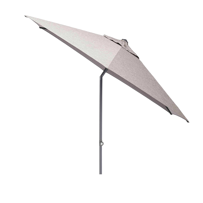 Kettler Sonnenschirm Easy Push Ø 300 cm Anthrazit/Hellgrau Meliert