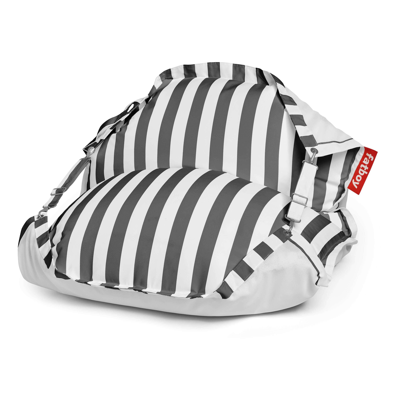 fatboy Schwimmender Sitzsack Original Floatzac Stripe Anthracite