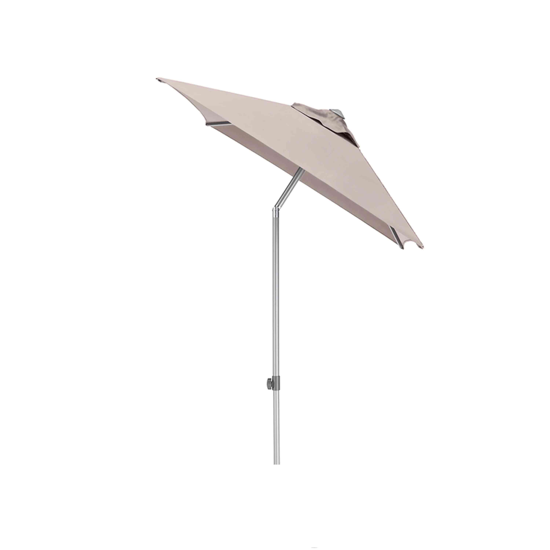 Kettler Sonnenschirm Easy Push 150x210 cm Silber/Taupe