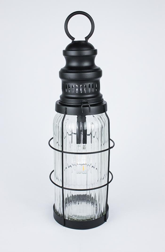 LED Lampe Volta Outdoor Laterne schwarz 40 cm hoch
