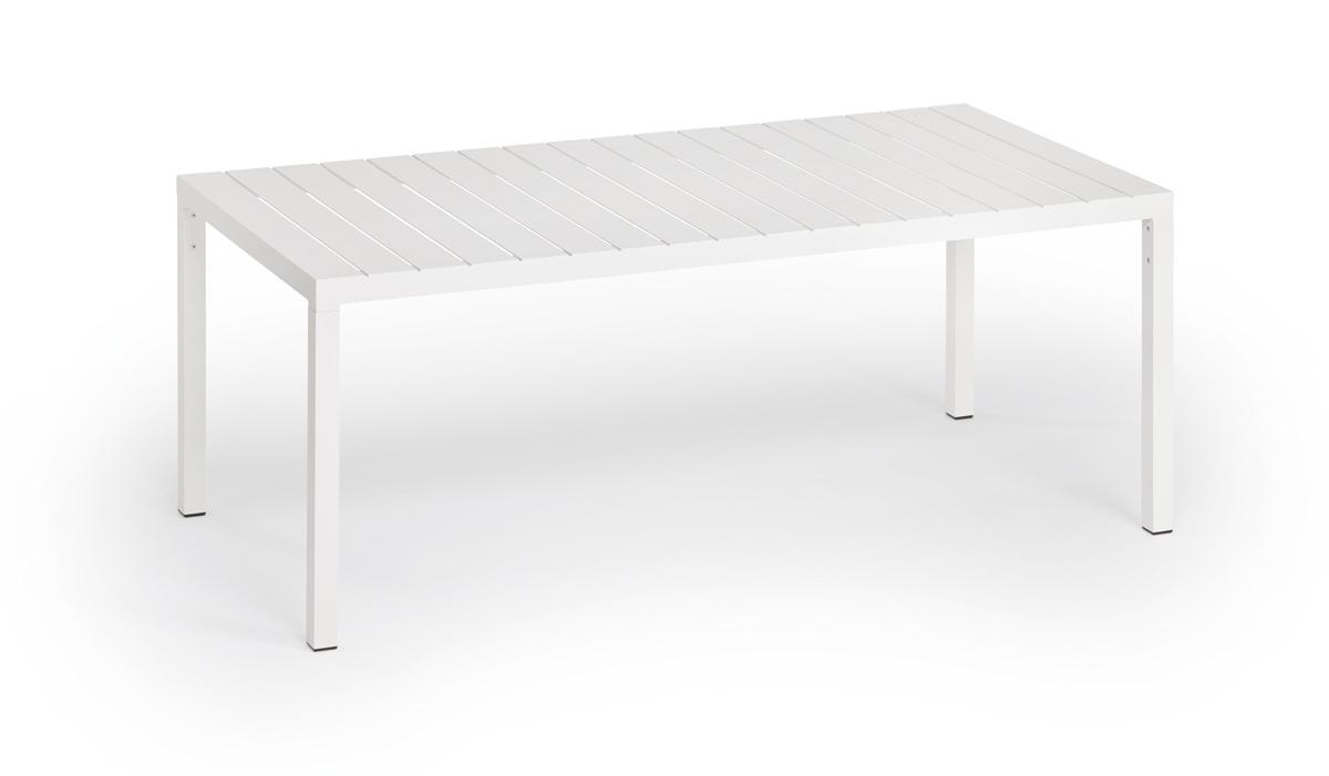 Weishäupl Gartentisch Flow 200x90 cm Weiß