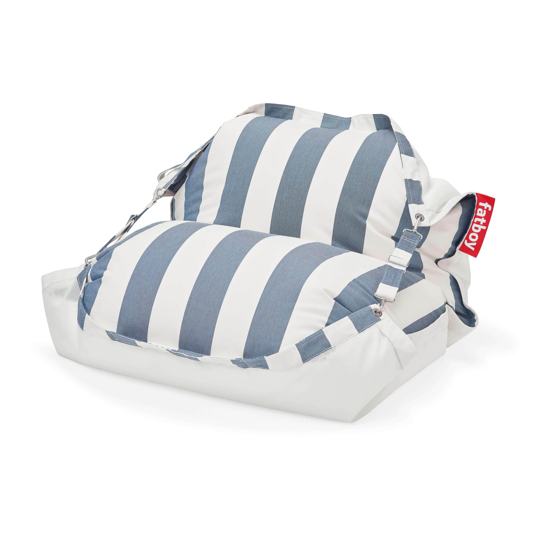 fatboy Schwimmender Sitzsack Original Floatzac Stripe Ocean Blue