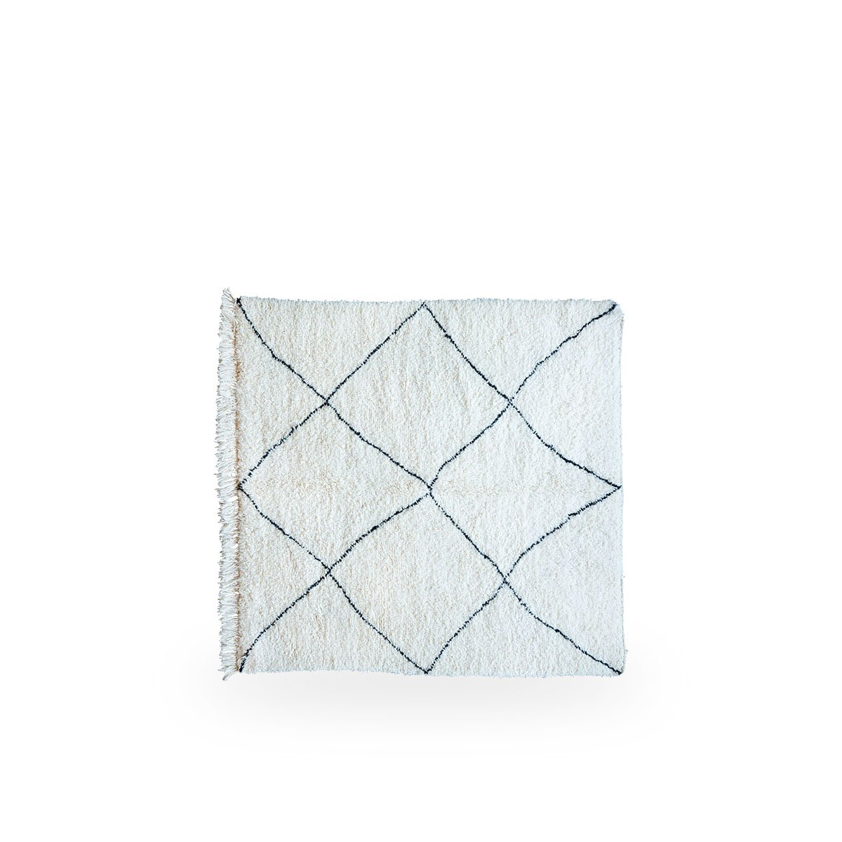 Sika Design Handwebteppich Moroccan 200x170 cm Weiß