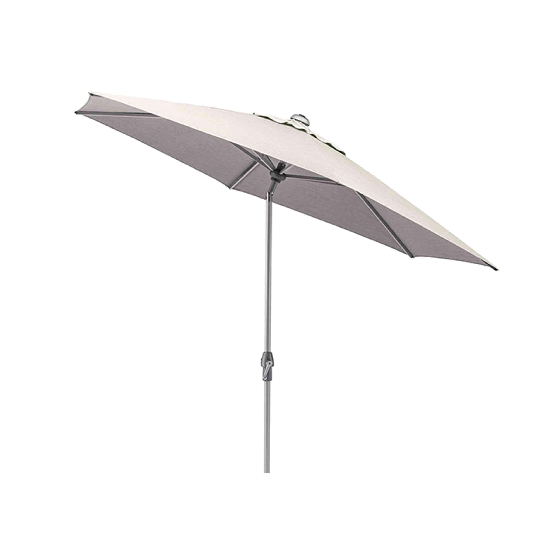 Kettler Sonnenschirm Easy Allround Kurbelschirm Ø 270 cm Silber/Hellgrau Meliert