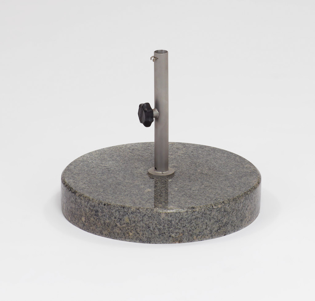 Weishäupl Bodenplatte Beton 50 kg / ∅40 mm Dunkelgrau