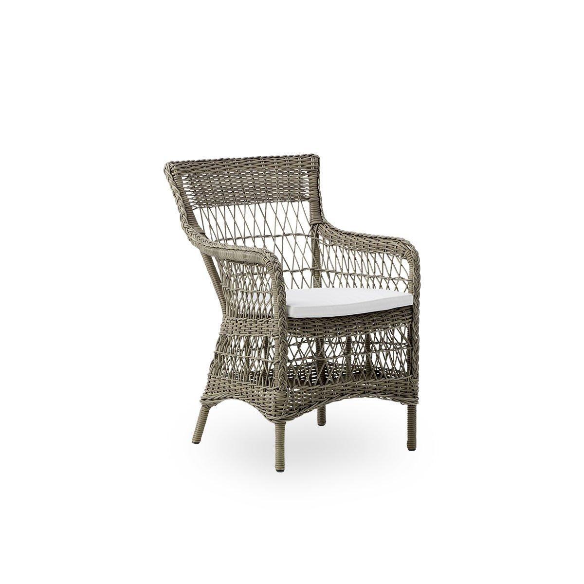 Sika Design Gartenstuhl mit Armlehne Marie Antik Grau