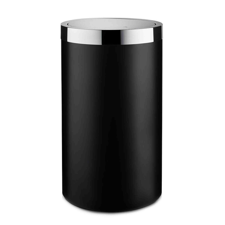 Joop! Wäschebehälter Chromeline Höhe 35 cm Chrom Schwarz