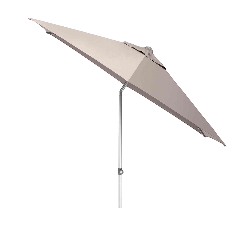 Kettler Sonnenschirm Easy Push Ø 300 cm Silber/Taupe