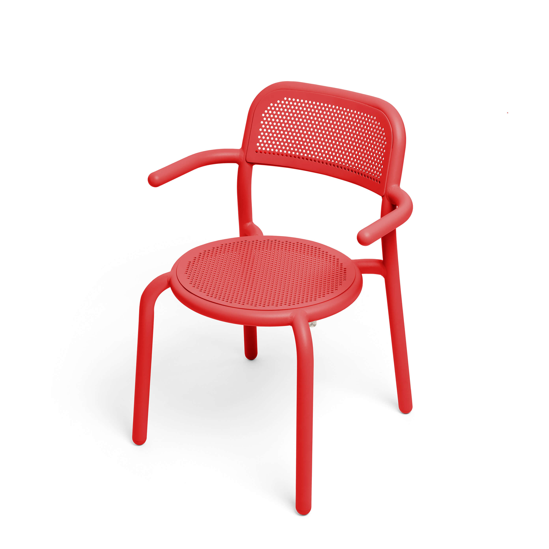 fatboy Gartenstuhl Toni Armchair 4er-Set Industrial Red