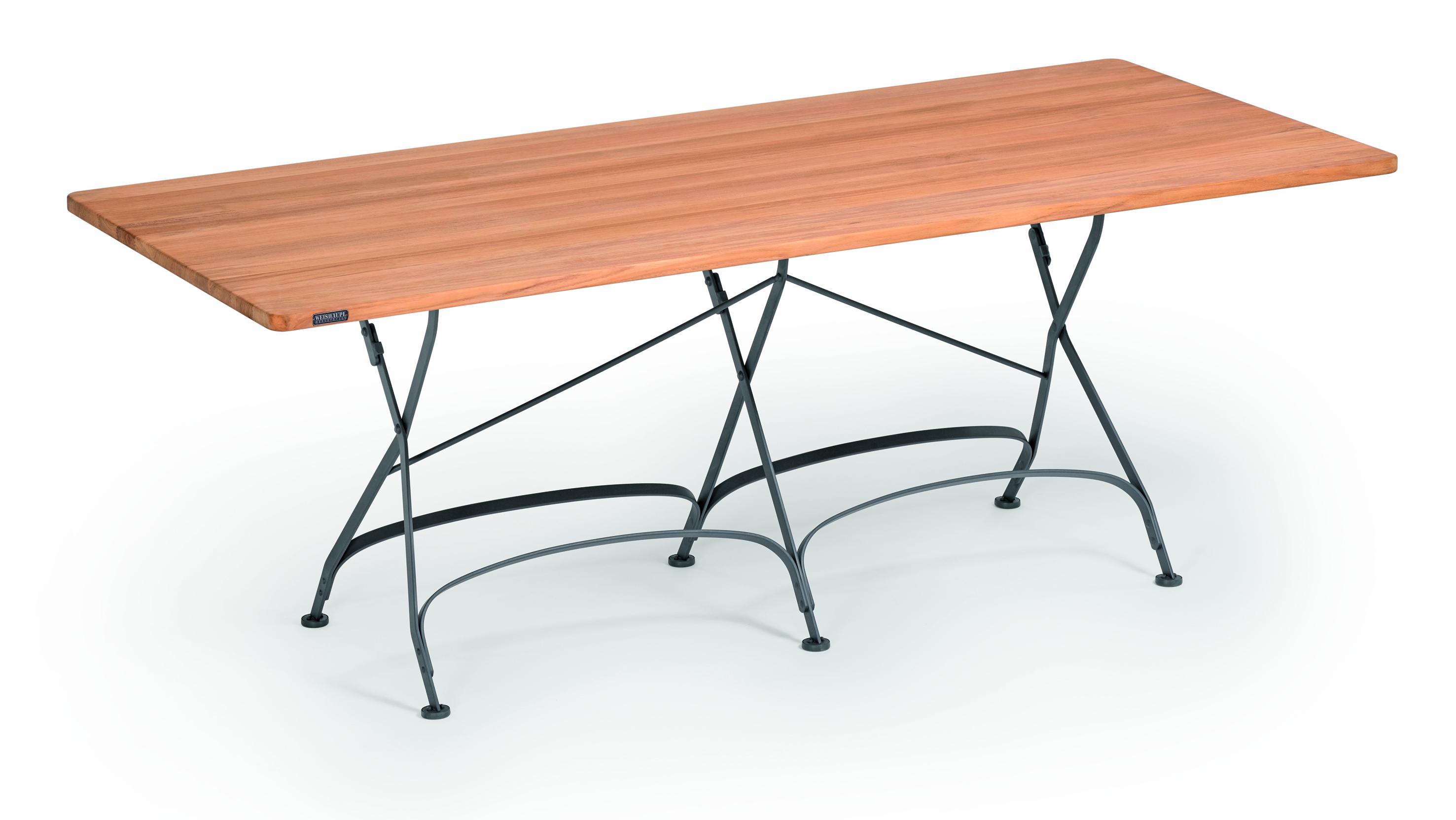 Weishäupl Gartentisch Classic 200x90 cm Graphitgrau