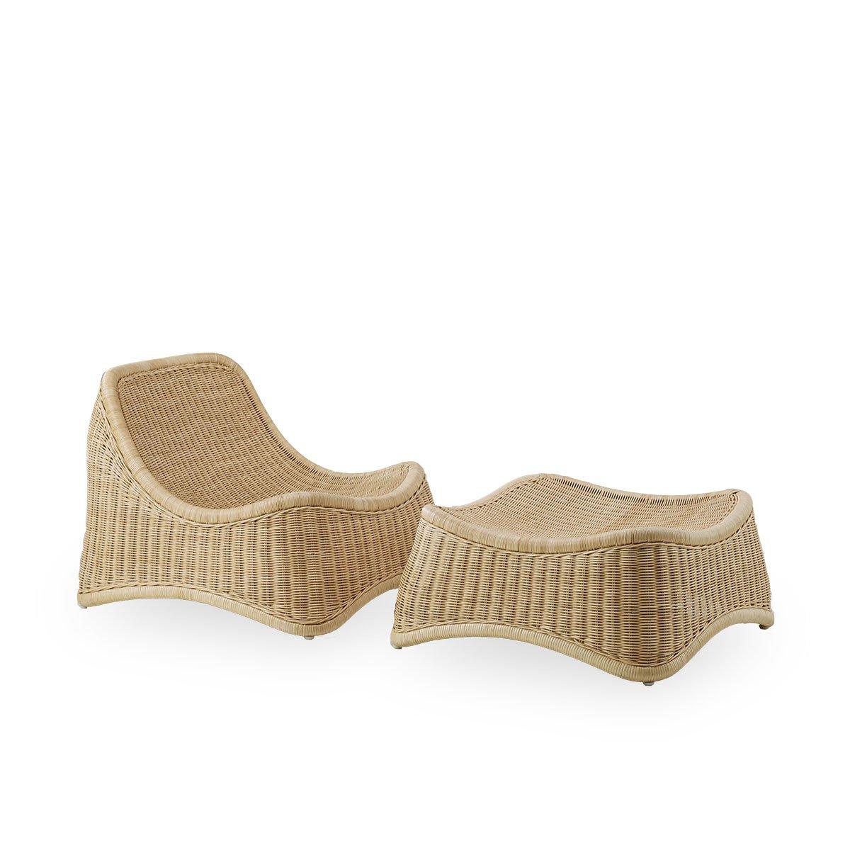 Sika Design Sessel Chill mit Hocker Natur