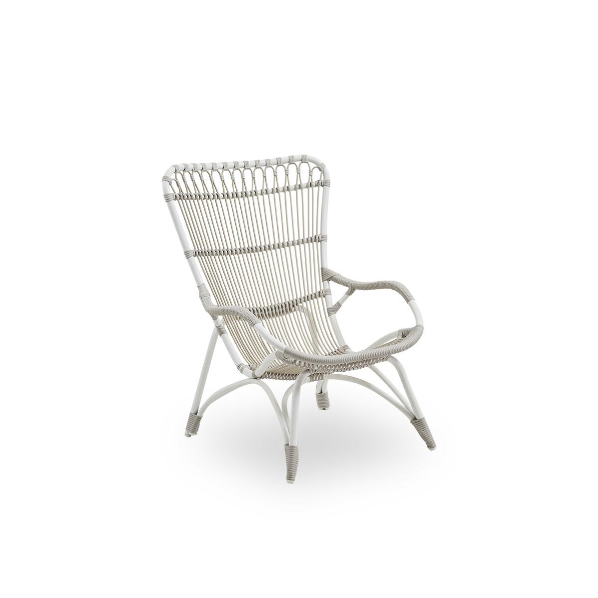 Sika Design Gartenstuhl Monet ohne Hocker Weiß