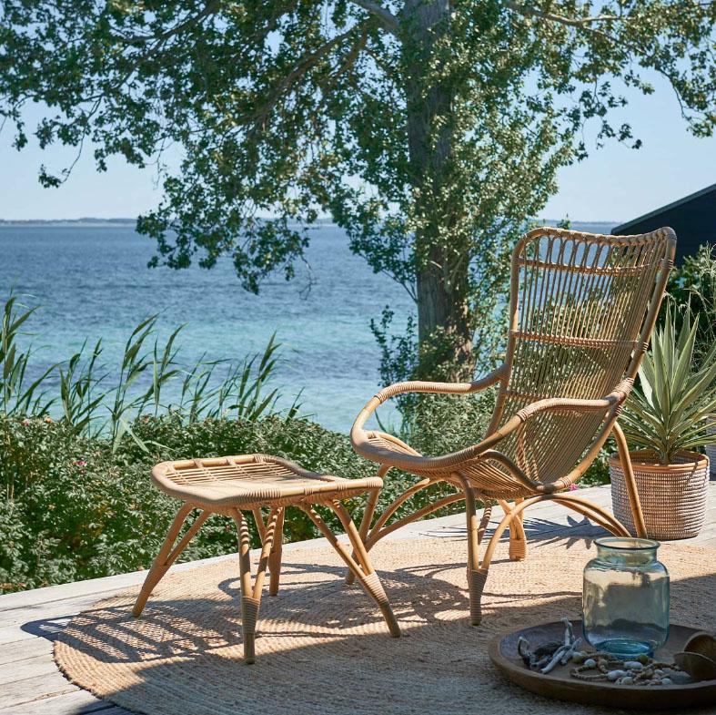 Sika Design Lounge-Sessel Monet ohne Hocker Natur