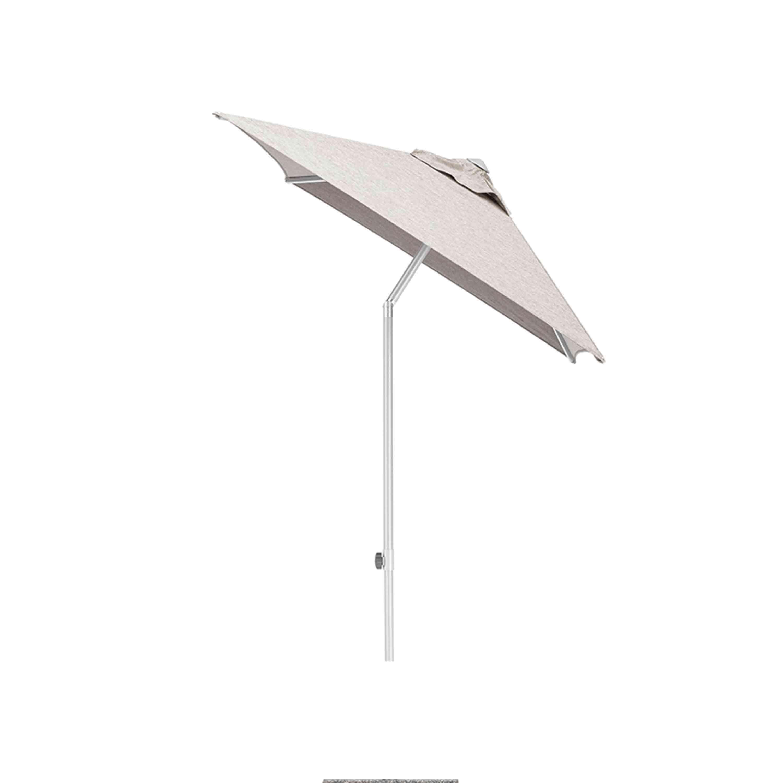 Kettler Sonnenschirm Easy Push 150x210 cm Silber/Hellgrau Meliert