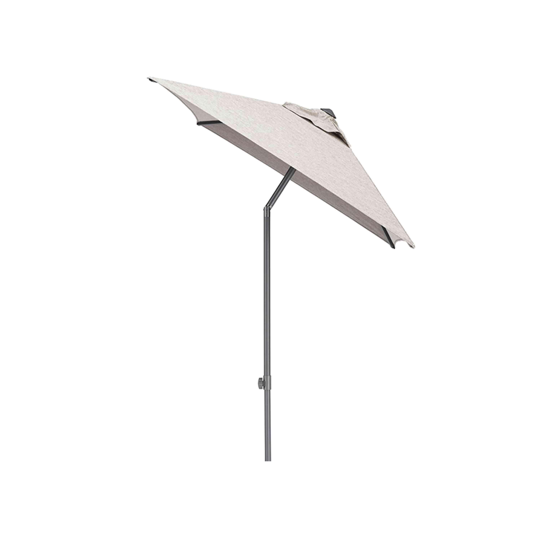 Kettler Sonnenschirm Easy Push 150x210 cm Anthrazit/Hellgrau Meliert