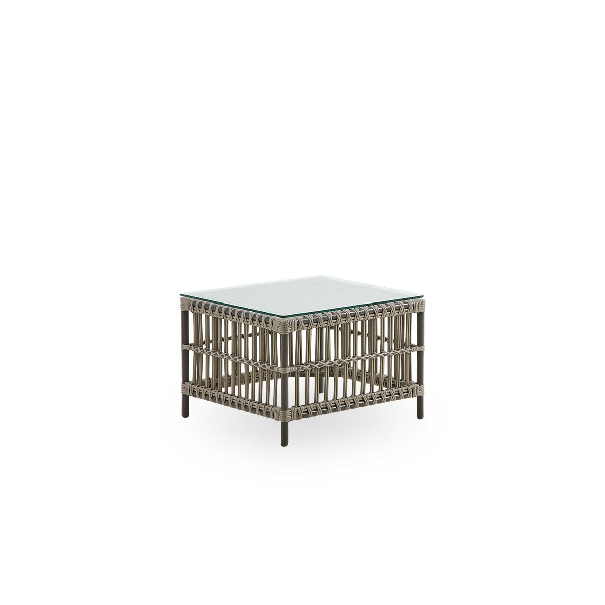 Sika Design Garten-Beistelltisch Caroline 60x60 cm Moccachino