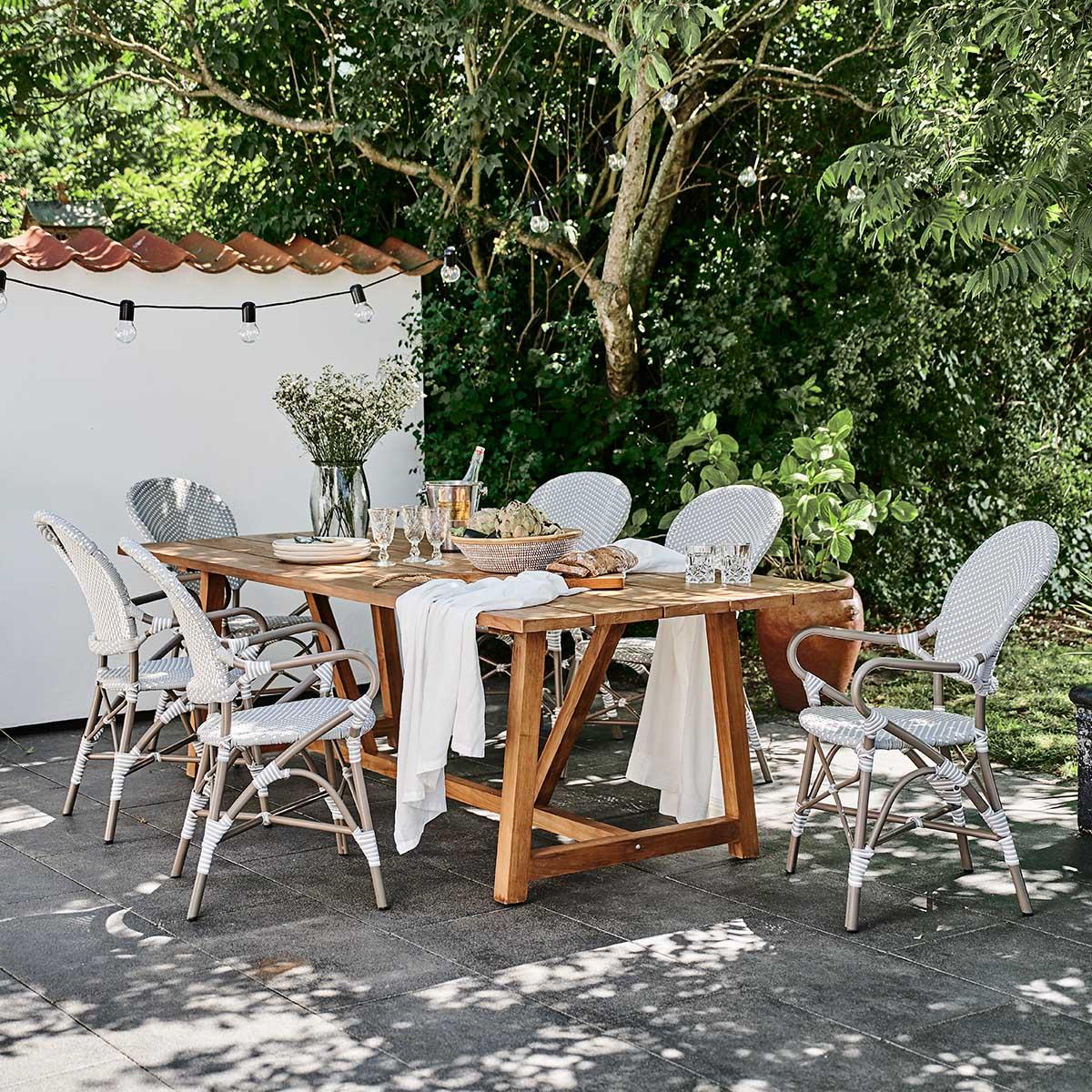 Sika Design Gartenstuhl mit Armlehne Isabell Grau
