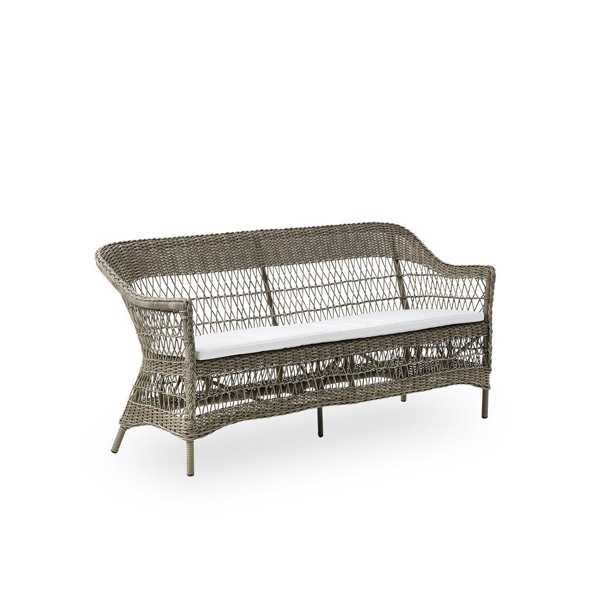 Sika Design Gartensofa Charlot 3-Sitzer Antik Grau