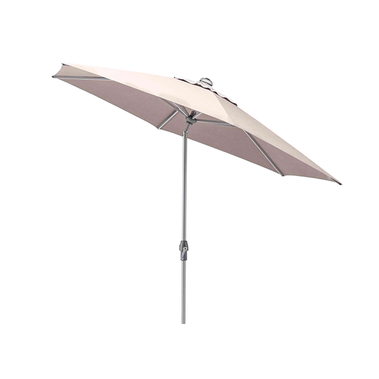 Kettler Sonnenschirm Easy Allround Kurbelschirm Ø 270 cm Silber/Taupe