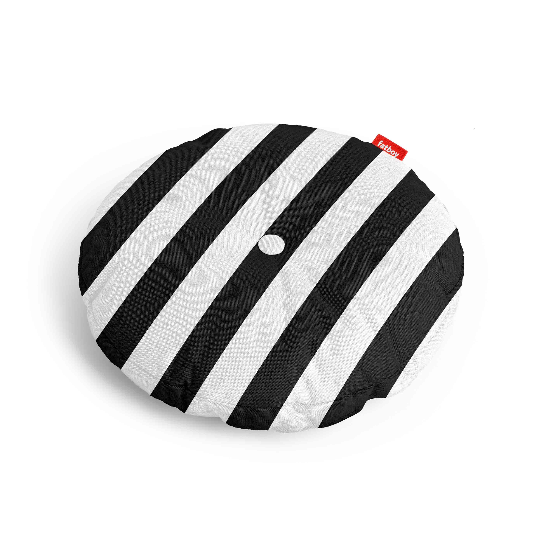 fatboy Kissen Circle Pillow Outdoor Stripe Anthracite