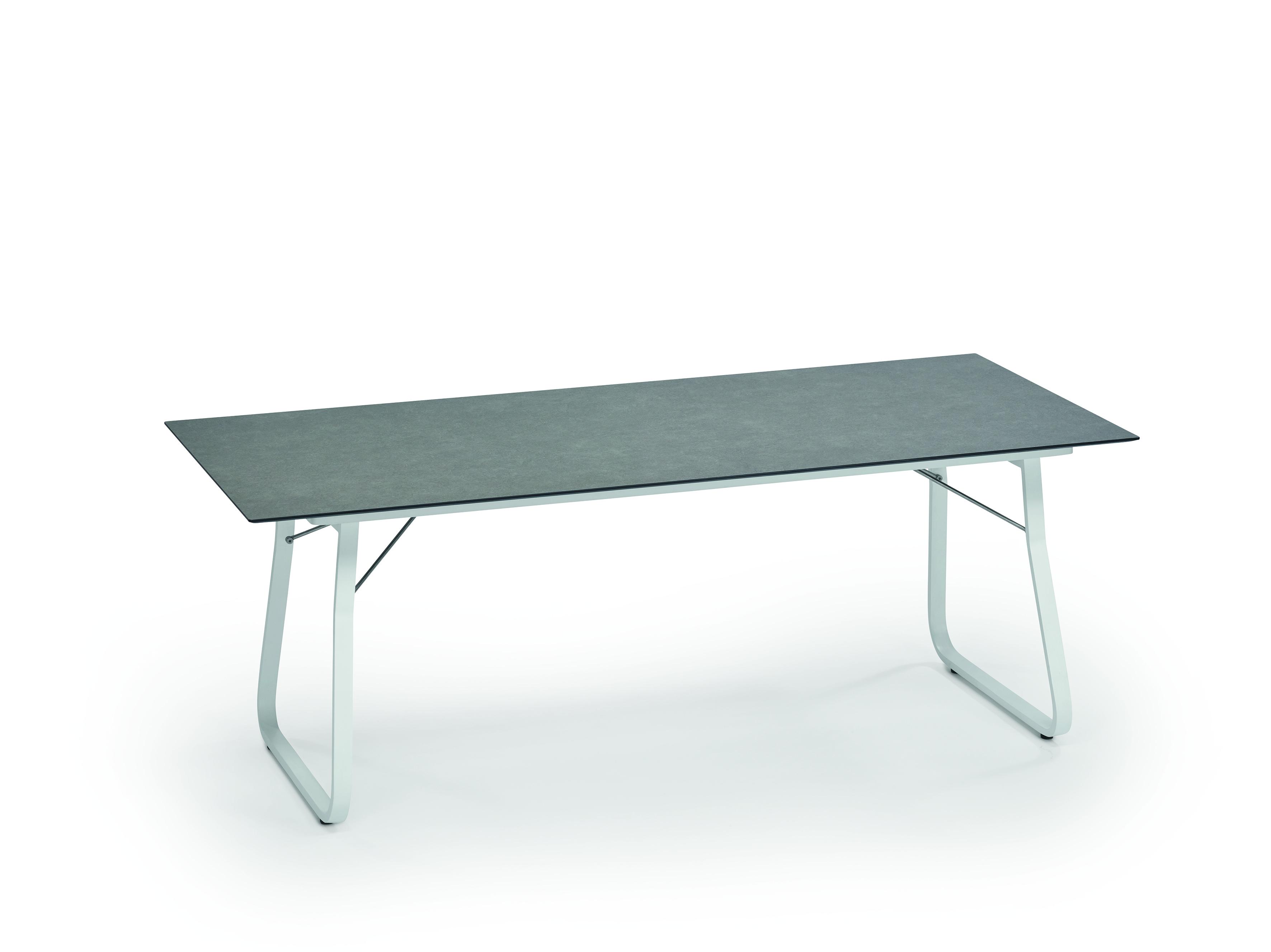 Weishäupl Gartentisch Ahoi 200x90 cm HPL Steingrau
