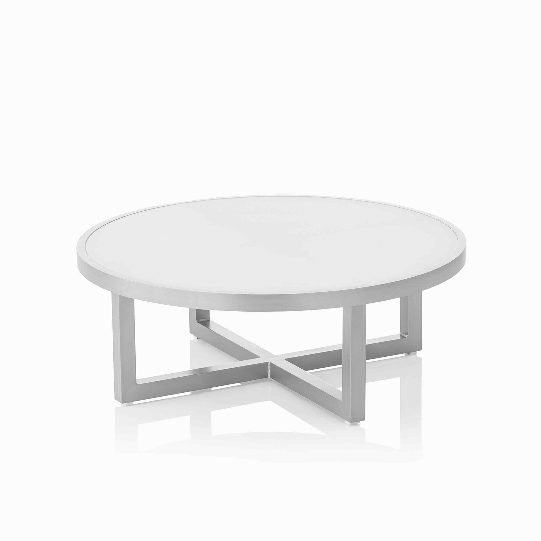 Kettler Garten-Beistelltisch Ego Lounge-Tisch Ø ca. 92 cm Silber
