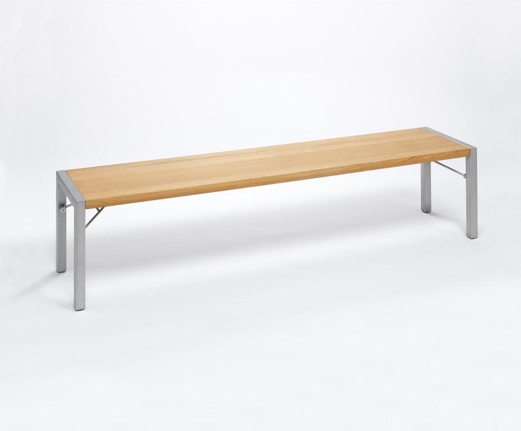 Weishäupl Gartenbank Flip 160x43 cm Edelstahl Grau