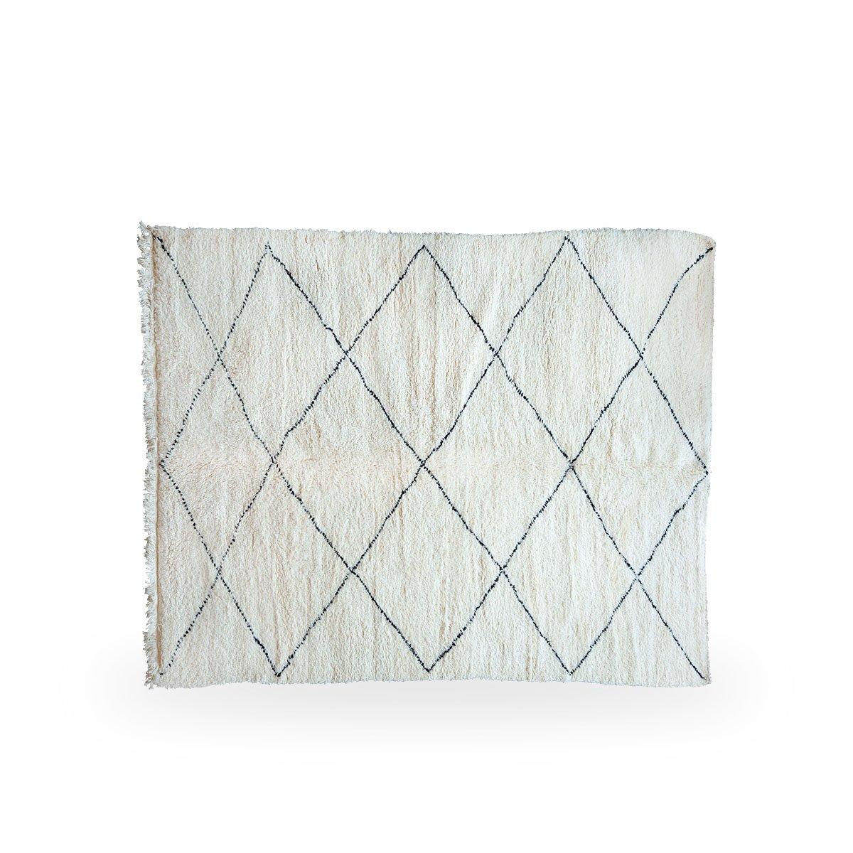 Sika Design Handwebteppich Moroccan 300x200 cm Weiß