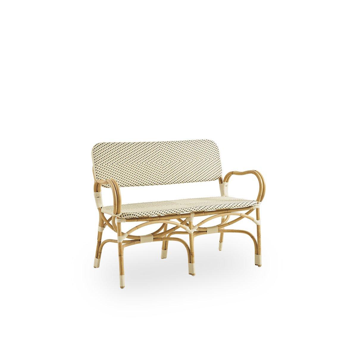 Sika Design Sitzbank Bistro 2-Sitzer Weiß