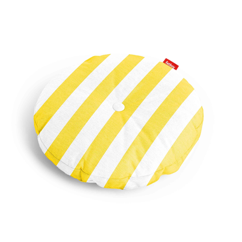 fatboy Kissen Circle Pillow Outdoor Stripe Yellow