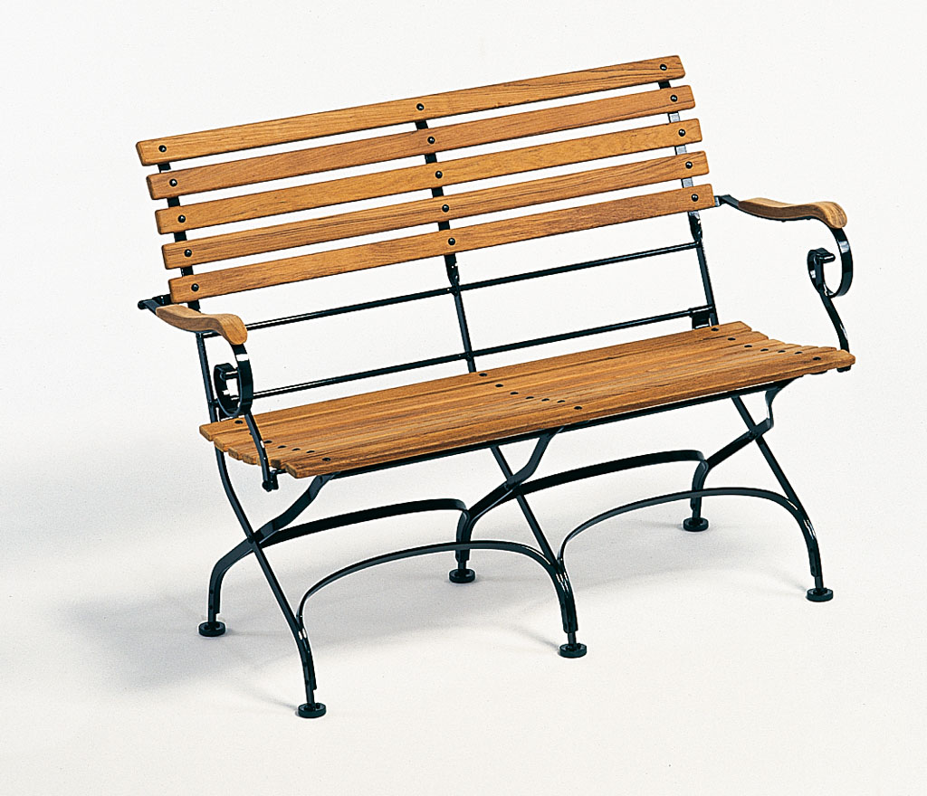 Weishäupl Gartenbank Classic 2-Sitzer 113x59x84 cm Dunkelgrün