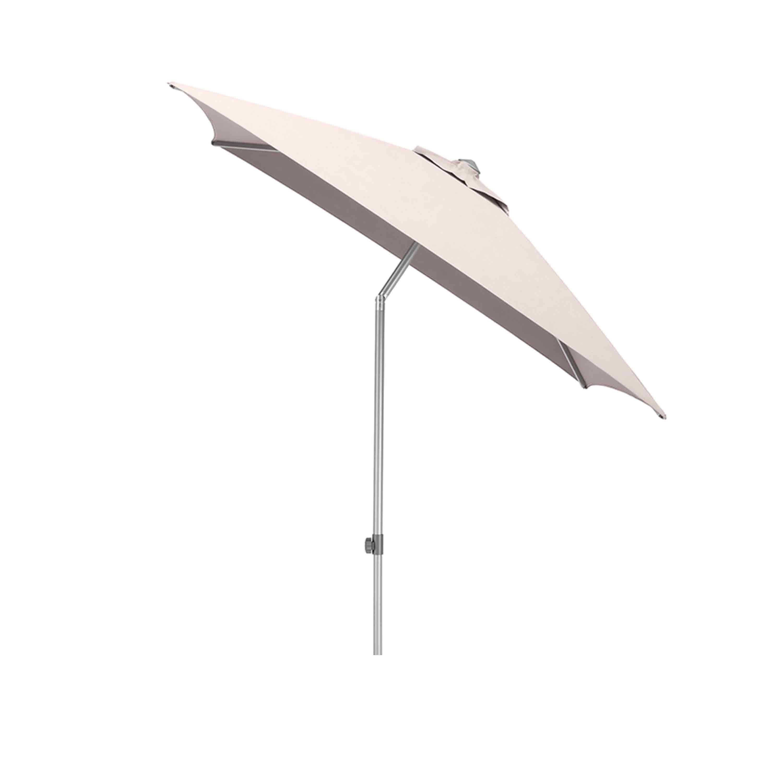 Kettler Sonnenschirm Easy Push 200x200 cm Silber/Taupe