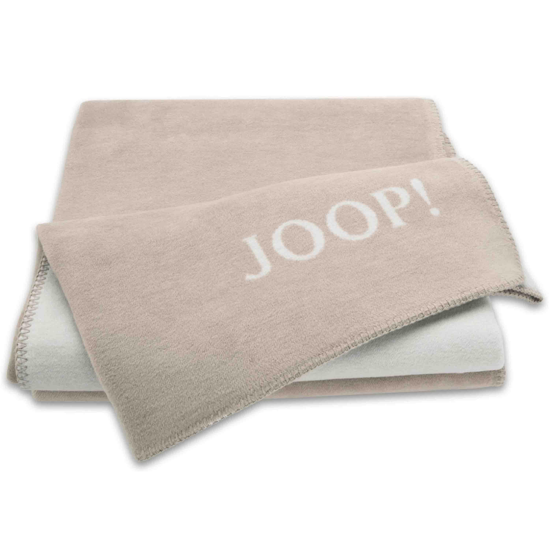Joop! Wohndecke Uni Doubleface 150x200 cm Sand-Pergament