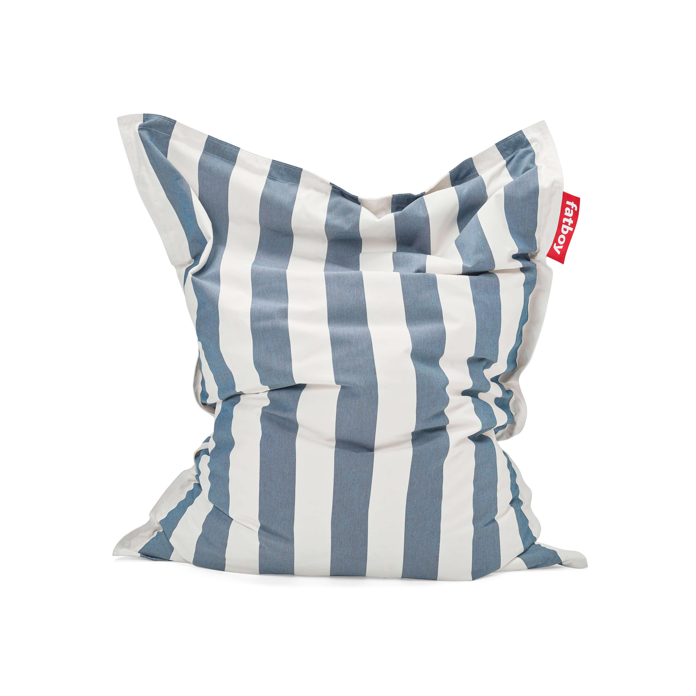 fatboy Outdoor-Sitzsack Original Stripe Ocean Blue