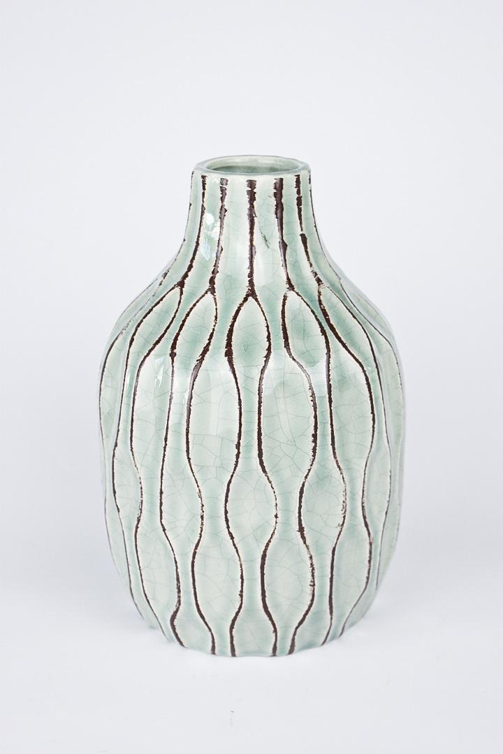 Vase Boltze grün Keramik 21 cm