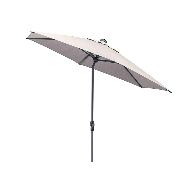 Kettler Sonnenschirm Easy Allround Kurbelschirm Ø 270 cm Anthrazit/Hellgrau Meliert