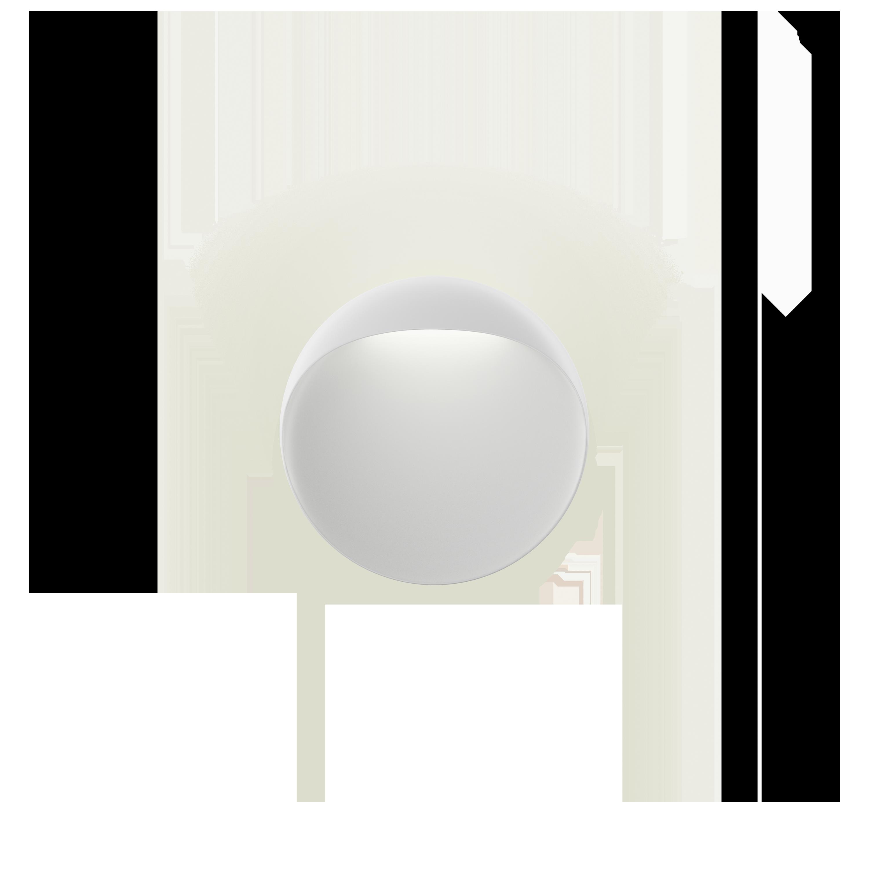 Louis Poulsen Flindt Ø200 2700K Wandleuchte Weiß Struktur