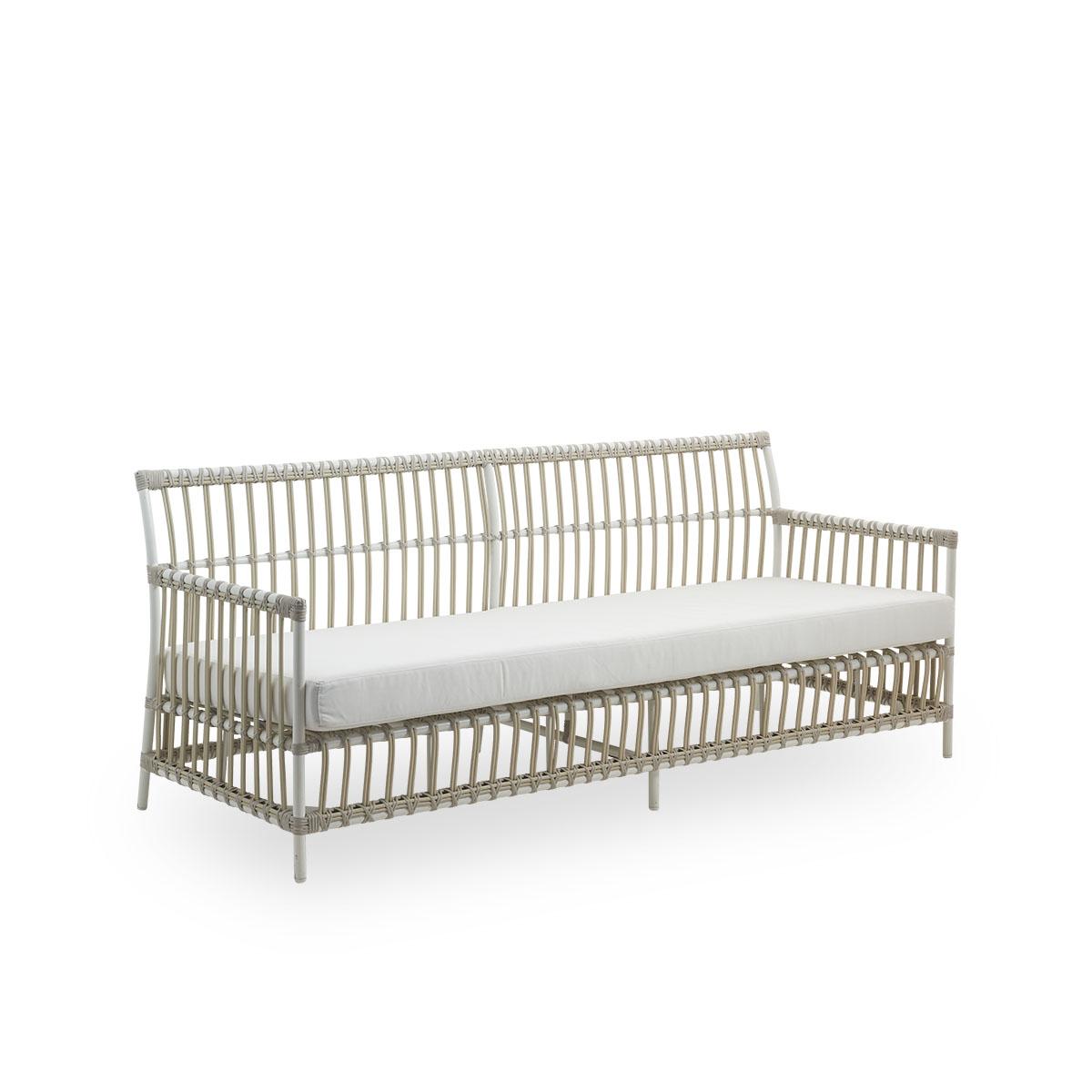 Sika Design Gartensofa Caroline 3-Sitzer Weiß